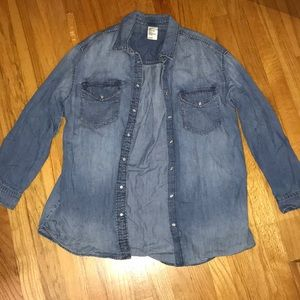 H&M Long Sleeve Denim Shirt